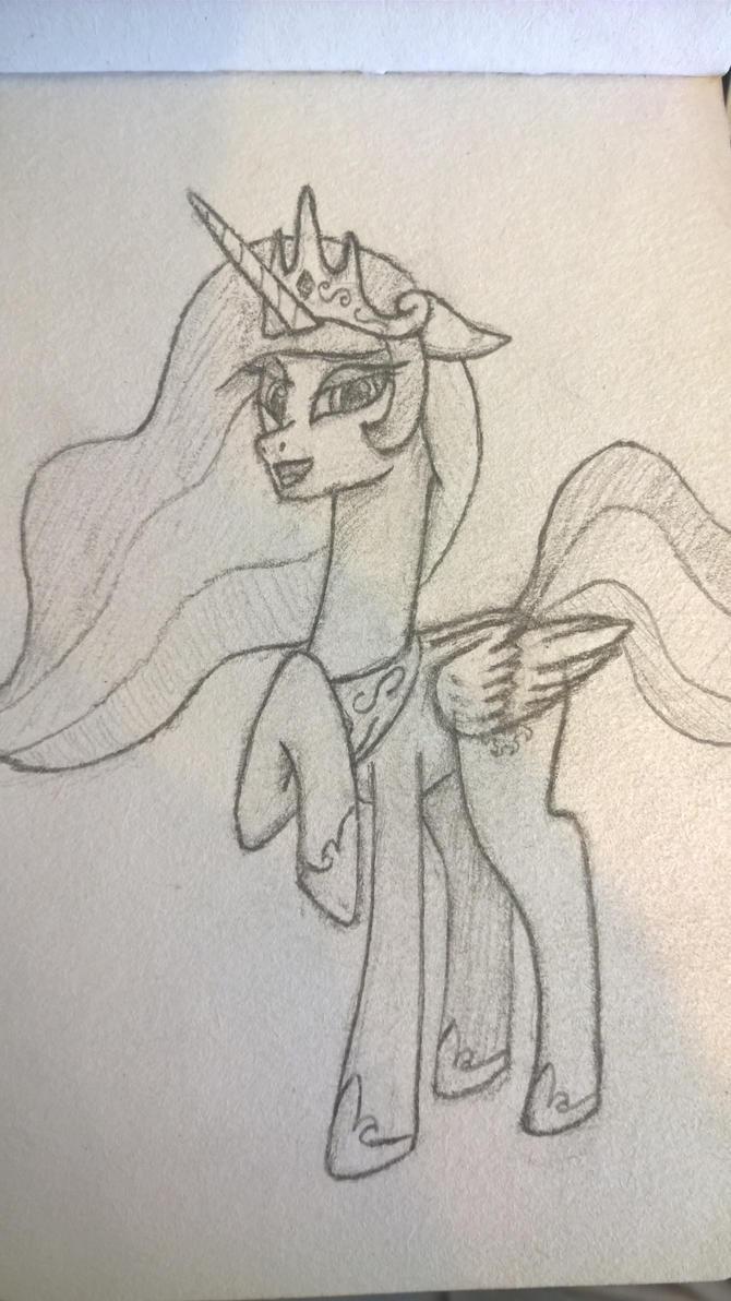 Celestia Doodle by DeathAlchemist94