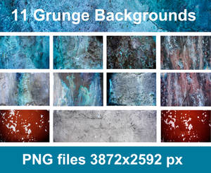 11 Grunge Backgrounds