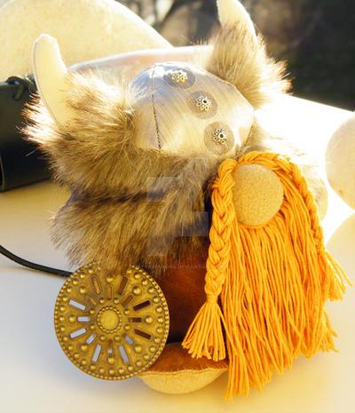 Handmade Viking Stuffed Doll by petyaivanova