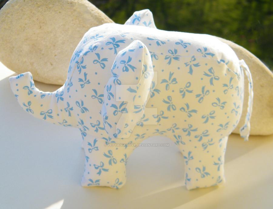 Free Shipping Handmade Elephant Stuffed Toy by petyaivanova