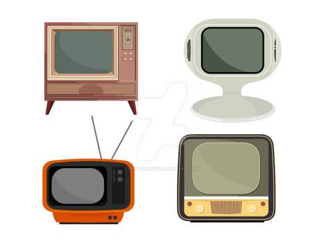 Retro TV Vector Set