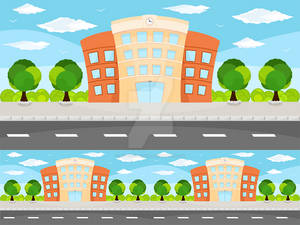 Building Game Vector Background
