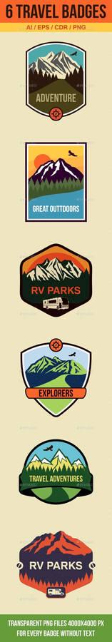 6 Travel Badges and Emblems