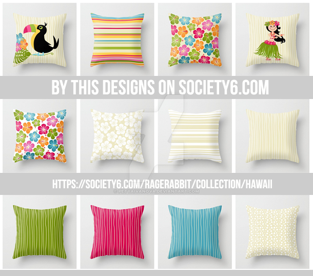 Trhrow pillow designs by me by petyaivanova
