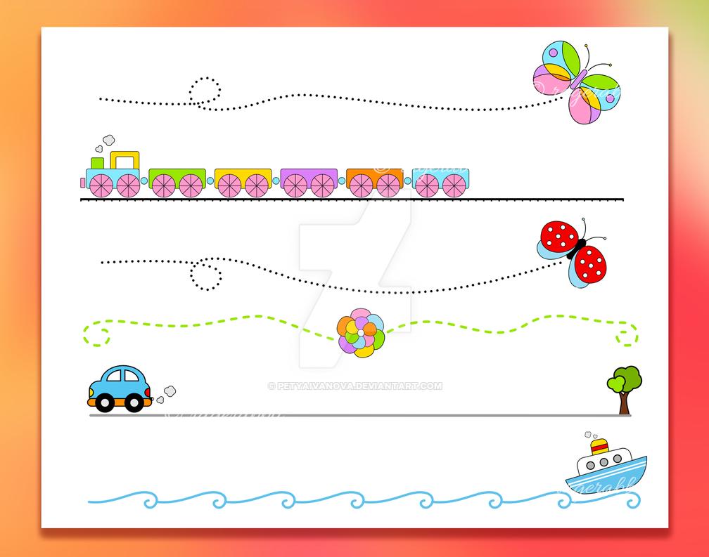 6 Cartoon Vector Dividers Set by petyaivanova