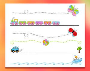 6 Cartoon Vector Dividers Set