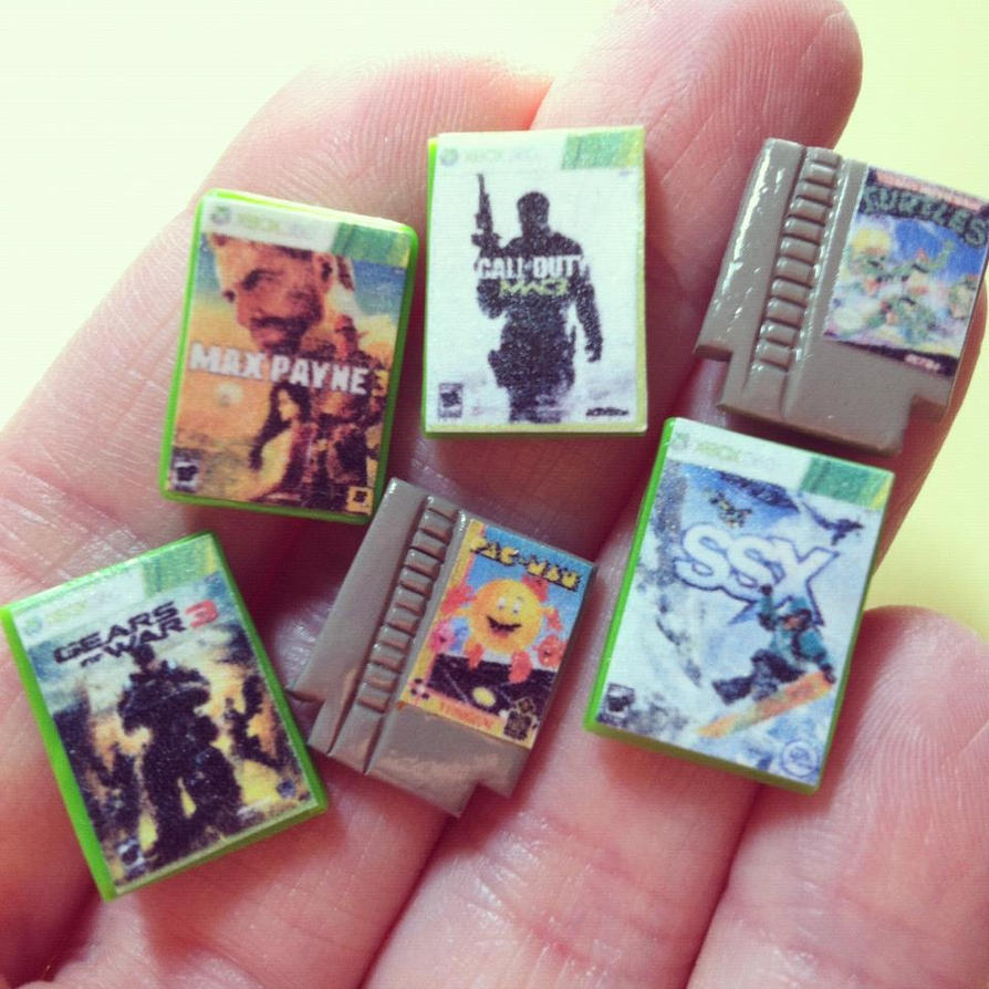 Xbox and NES Games by MyLitteLunchBox