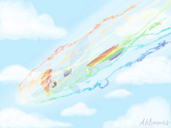 Sonic Rainboom by Aklimovich