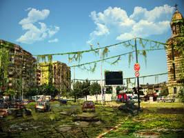 Post-apocalyptic city V2 by SkiloBHC