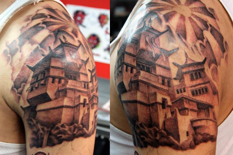 temple tattoo