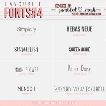 [ JUMBLEDMESH ] Favourite Fonts PART 4