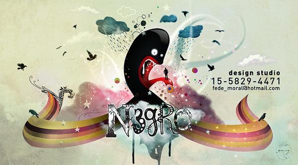 Personal Card - N3GRO by fede-moral