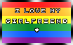 |I Love My Girlfriend.Homo| Stamp by o-GunCat-o