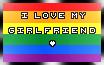 |I Love My Girlfriend.Homo| Stamp by o-GunCat-o