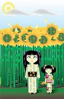 Summer sunflower walk by Ash2theB