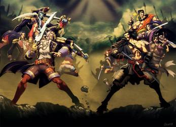 Pirates vs ninjas by GENZOMAN
