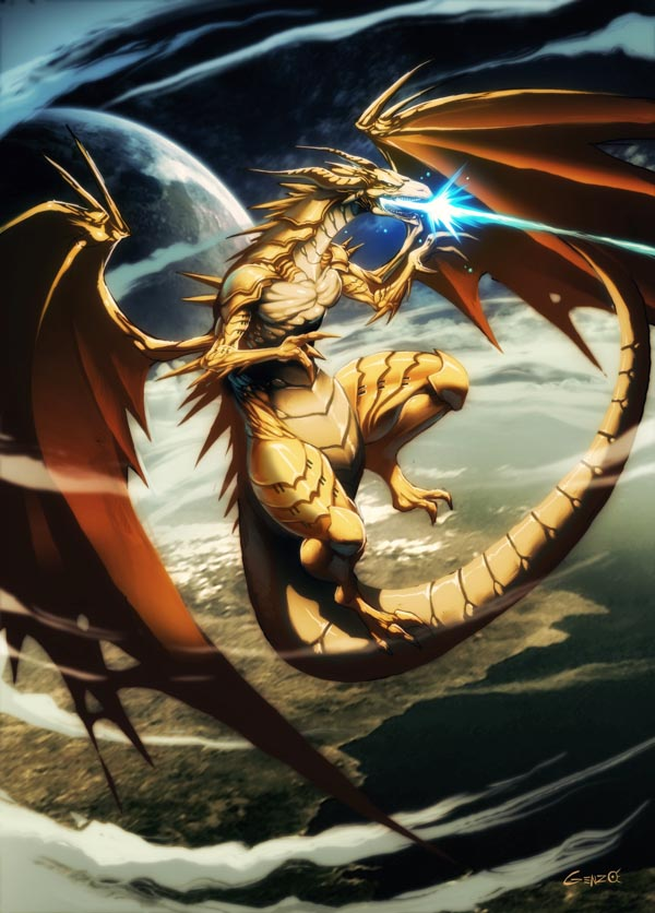 golden dragon illustration