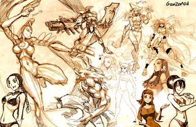 Sketch dump 2 by GENZOMAN