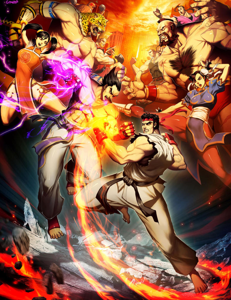 Street Fighter X Tekken by GENZOMAN