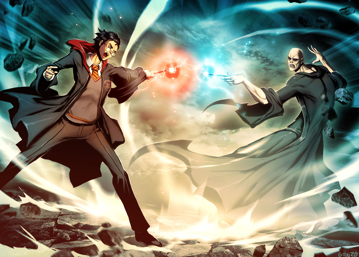 Amazing Wallpaper Harry Potter Artwork - harry_potter_vs_voldemort_by_genzoman-d31uk51  Picture_607051.jpg