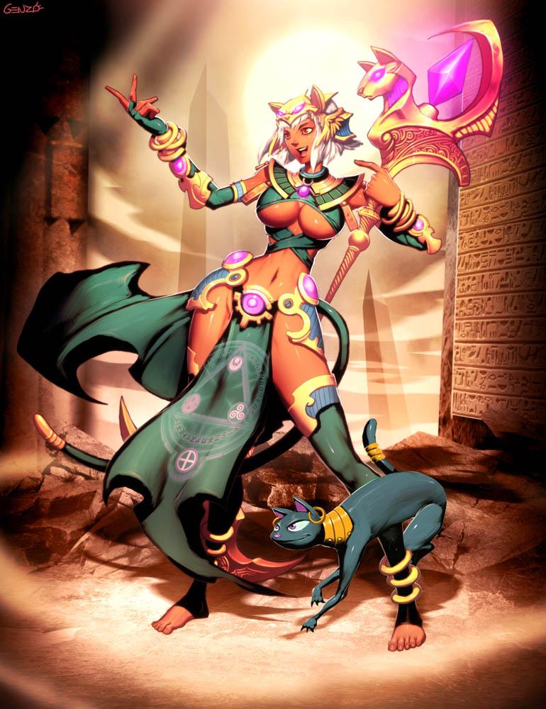 Cat Priestess Kisa by GENZOMAN