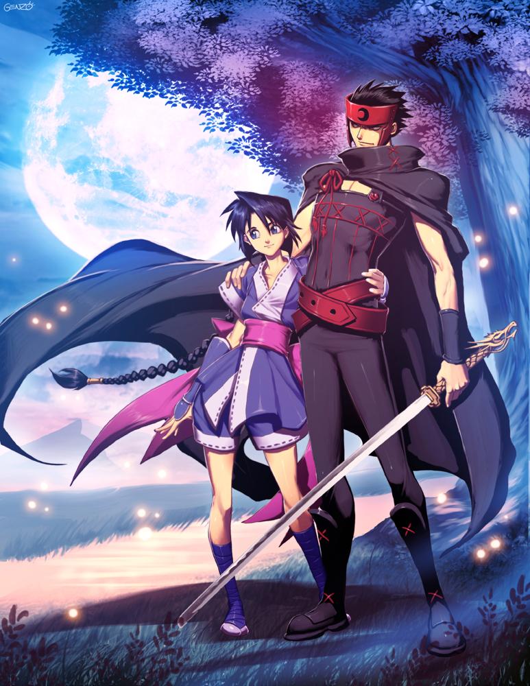 Kurogane and Misao by GENZOMAN
