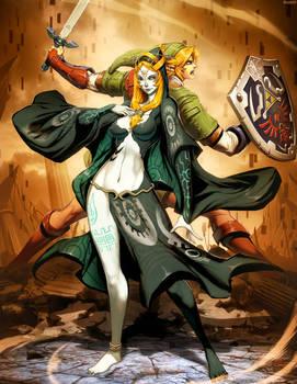 Zelda - Midna and Link