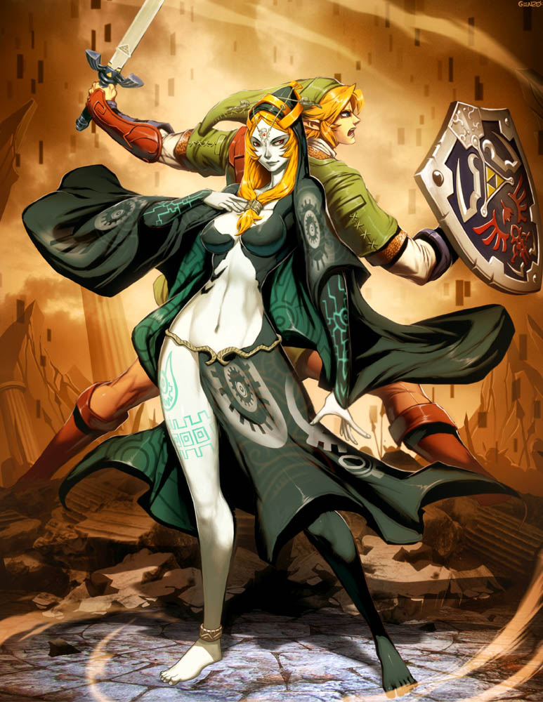 Zelda - Midna and Link by GENZOMAN on DeviantArt