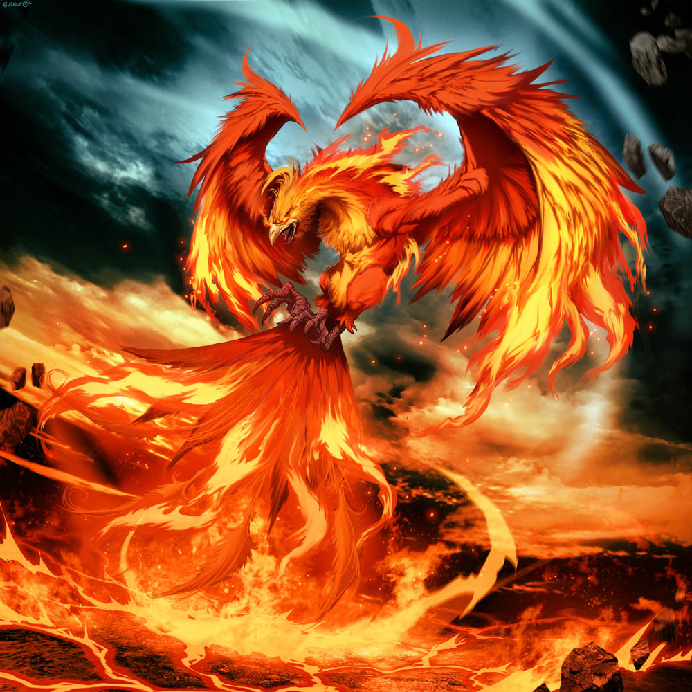 Phoenix by Genzoman dans Fantastique phoenix_by_genzoman-d3cqnzj