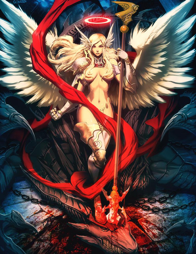 Dragon Slayer Angel by GENZOMAN