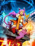 Cat girl - ImagineFX 71 by GENZOMAN