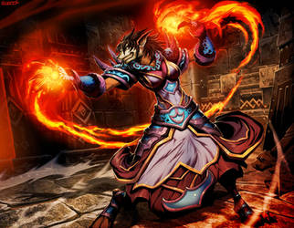 Warcraft - Kelsa Wildfire by GENZOMAN