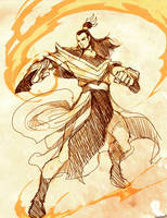 AVATAR - Ozai Sketch by GENZOMAN