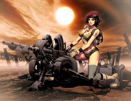 Cannon girl by GENZOMAN
