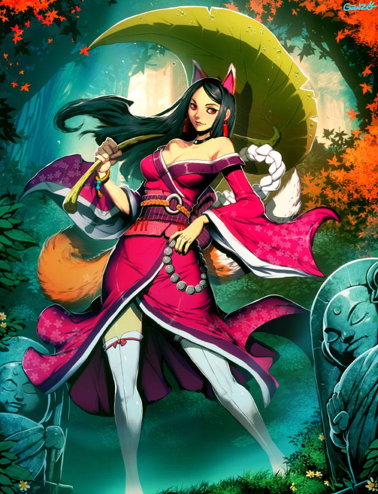Kitsune by genzoman on deviantart - Nogitsune wallpaper ...