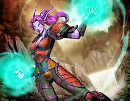 Warcraft - Elmira Moonsurge by GENZOMAN