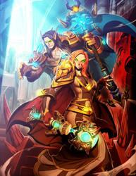 Warcraft - Fin and Valatra by GENZOMAN