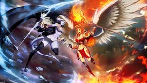 Ice Demon vs Fire Angel