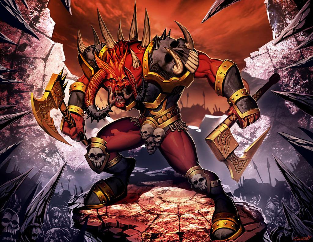 Warhammer - Khorne by GENZOMAN