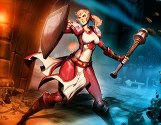 Scarlet Crusader by GENZOMAN