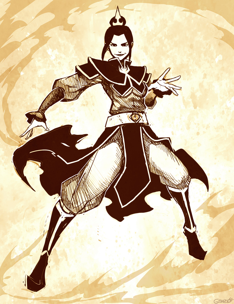 Azula sketch by GENZOMAN