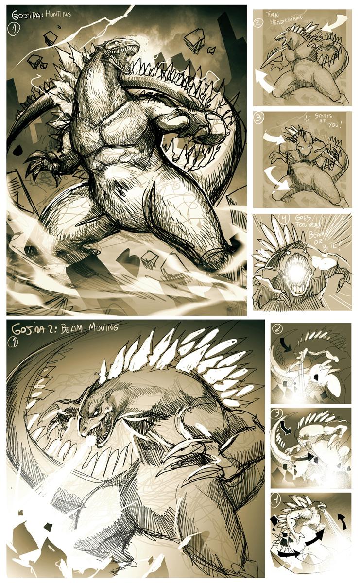 Godzilla Sketch by GENZOMAN