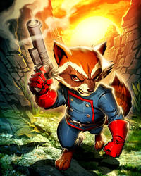 Rocket Raccoon by GENZOMAN