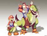 Optimus Mario and Yoshi Grimlock