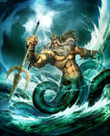 Poseidon God of the Sea by GENZOMAN