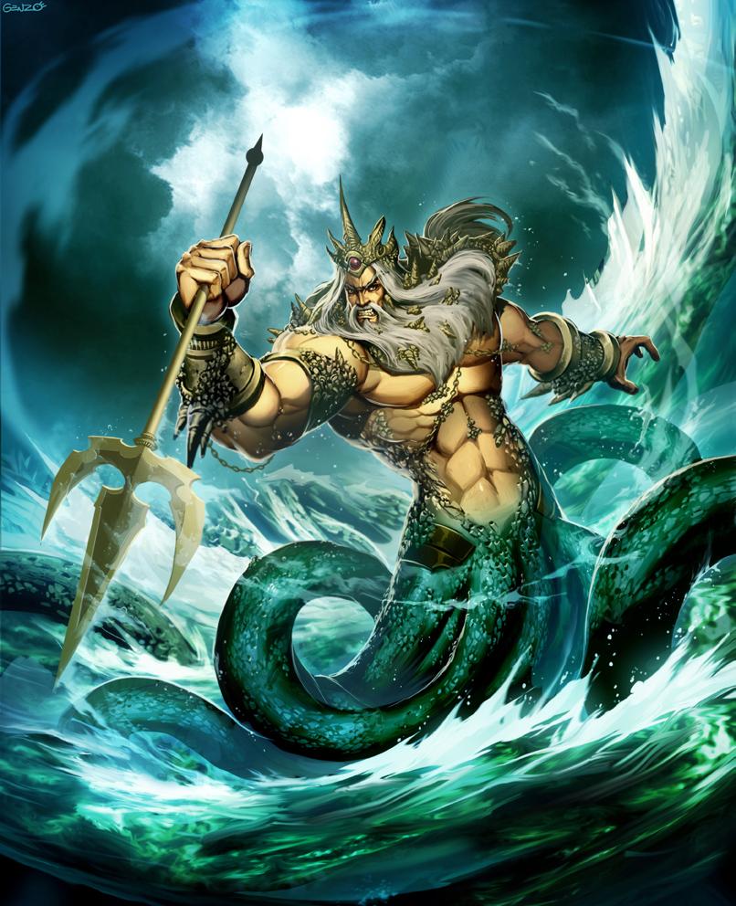 Poseidon God of the Sea by GENZOMAN on DeviantArt