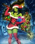 Santa She-Hulk 1