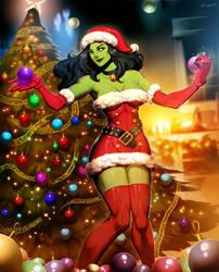 Santa She-Hulk 2 by GENZOMAN