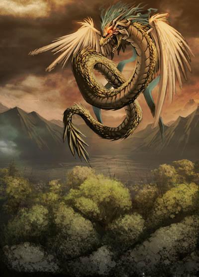Quetzalcoatl - Tlillan by GENZOMAN