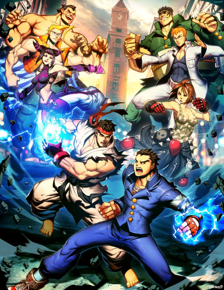 Capcom Fighting Tribute - SF vs Rival Schools by GENZOMAN